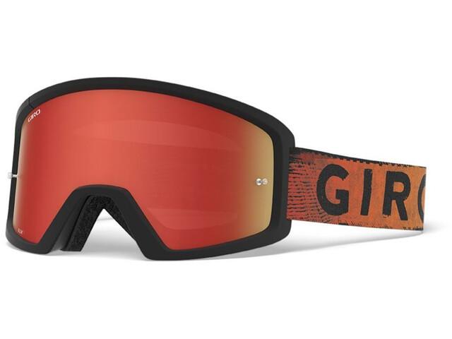 Giro Blok MTB Bril, black/red hypnotic-amber/clear